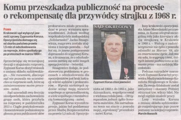 DP 15.01.2014 r. Zygmunt Korus